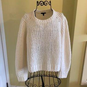 Rag & Bone Arizona Ivory Crew Chunky Knit Sweater
